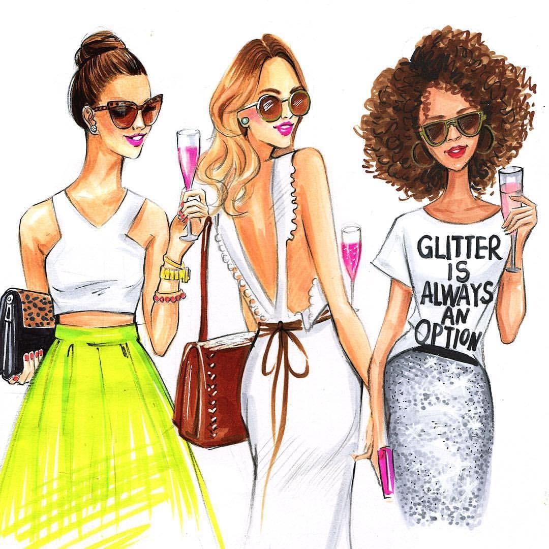 Карвинг, картинка с тремя девушками прикольные нарисованные