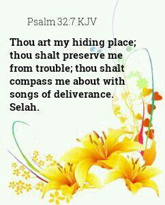 Psalm 32:7 KJV | From the good Book | Bible verses kjv