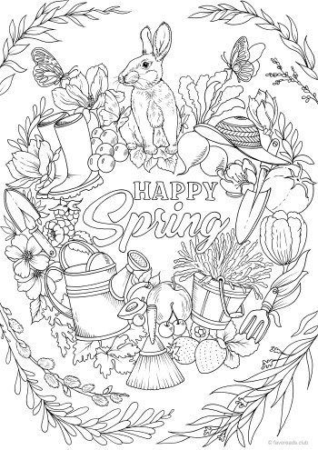 fröhlichen frühling - favoreads coloring club - drawing