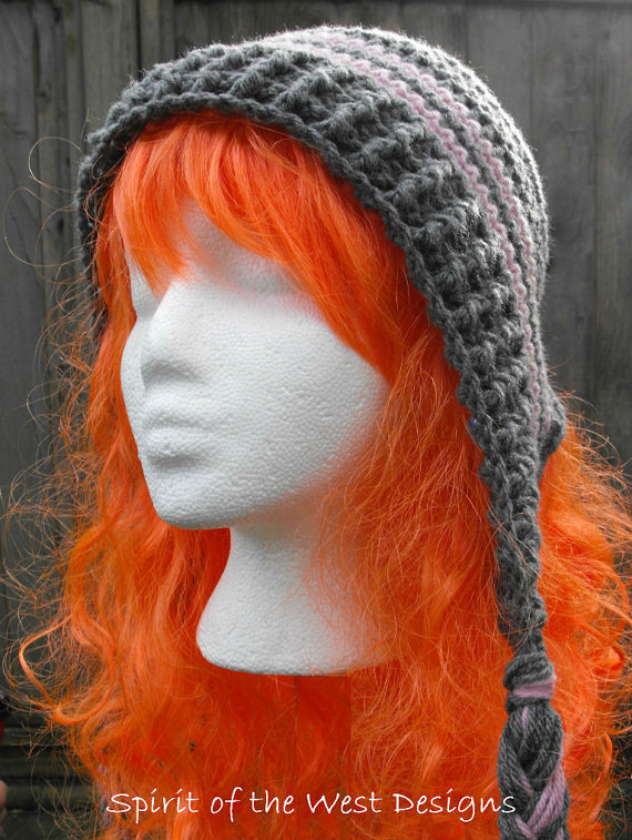 Crochet Earflap Hat Pattern Child Teen Adult Sizes Bonnet with Braids  Slouchy toque beanie earwarmer 5422af85a8c
