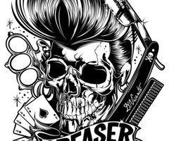greaser skull skull greaser rockabilly images skulls pinterest greaser. Black Bedroom Furniture Sets. Home Design Ideas
