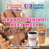 Dunkin Donuts Multi-brand Store Opens in Foothill Ranch October 4th + a Giveaway! | Fun Things to Do in Orange County - Let's Play OC!