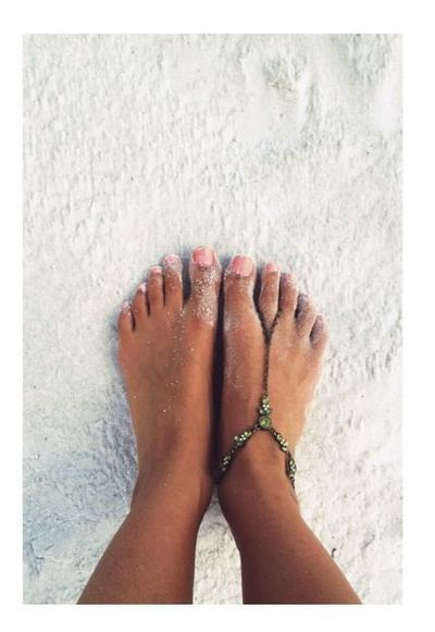 a good day ends with sandy toes