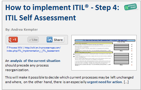 How To Implement Itil Step   Itil Self Assessment  Itil