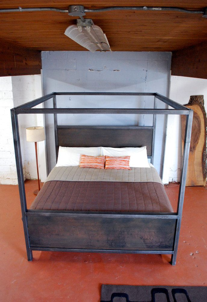Kraftig Canopy Bed in 2020 Canopy bed frame, King size