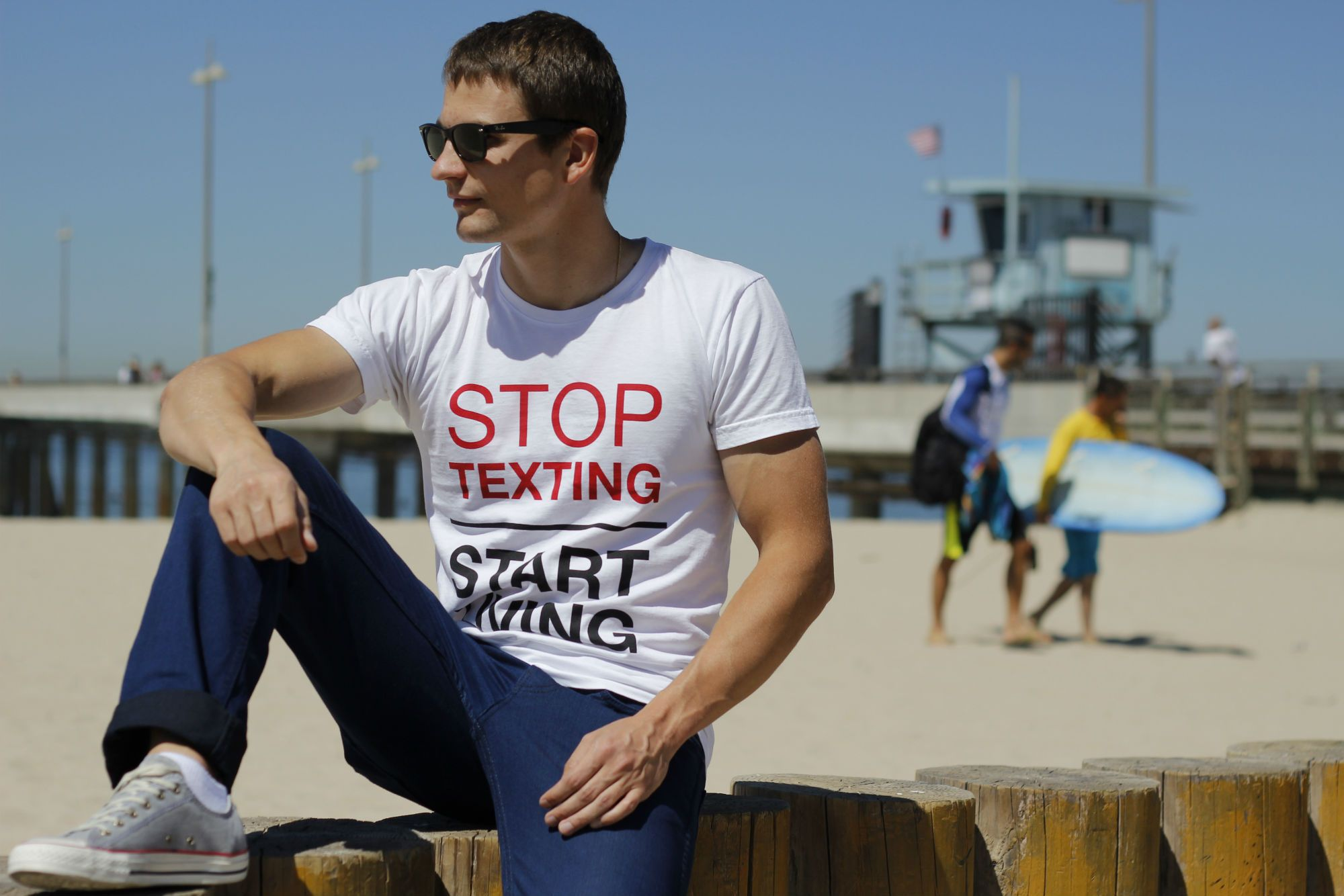 Tshirt that completes you. Available on http://okstyledesign.com/ #tee #tshirt #beach #ocean #lookbook #mensfashion #fashion #style