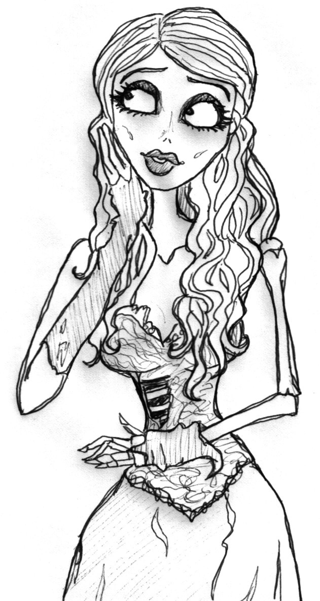 Corpse Bride Lineart by Kata-elf on DeviantArt | 2366x1262