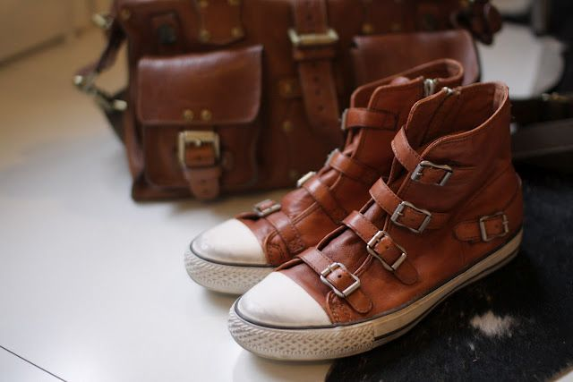 Leather Converse with Buckles! HOLY CRAP WHERE DO I BUY THEM?