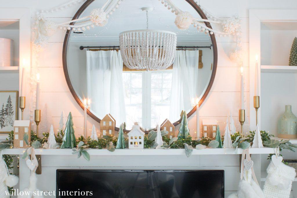 Christmas Mantel Decorating Idea Willow Street Interiors