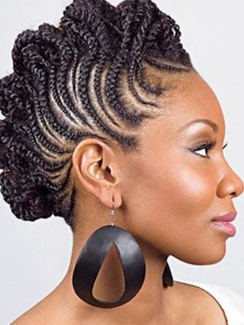 Natural Braided Hairstyles For African American Black Women 2014