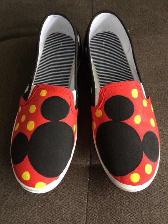 a8a5c3cfd164 MICKEY MOUSE VANS Shoes - hand painted Mickey Mouse Vans