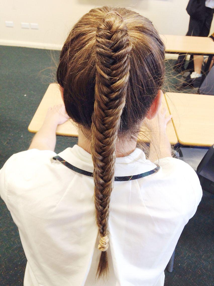 Hairdiary highpony fishbraid longhair pretty easy hairstyles