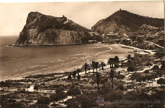 Postal Benidorm Playa De Poniente Circulada Ano 1 962 Postales