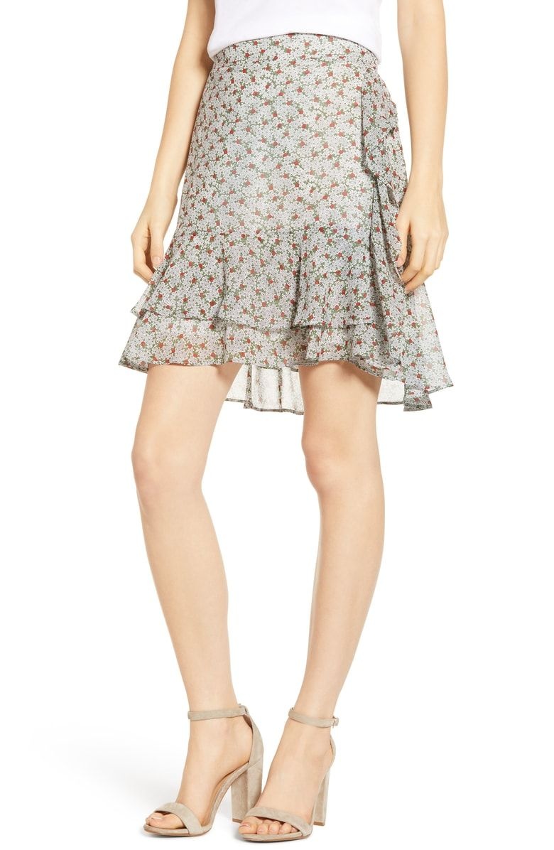 Prima Ruffle Miniskirt Nordstrom Mini Skirts Stylish Skirts Women