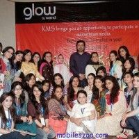 A Media Fest was arranged by Warid Glow at Kinnaird college for women Lahore