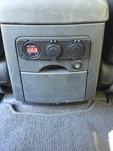 How To Install A Voltmeter Usb 12v Outlet In The Rear Of The Center Console Second Generation Nissan Xterra Forums Nissan Xterra Nissan Nissan Frontier Mods
