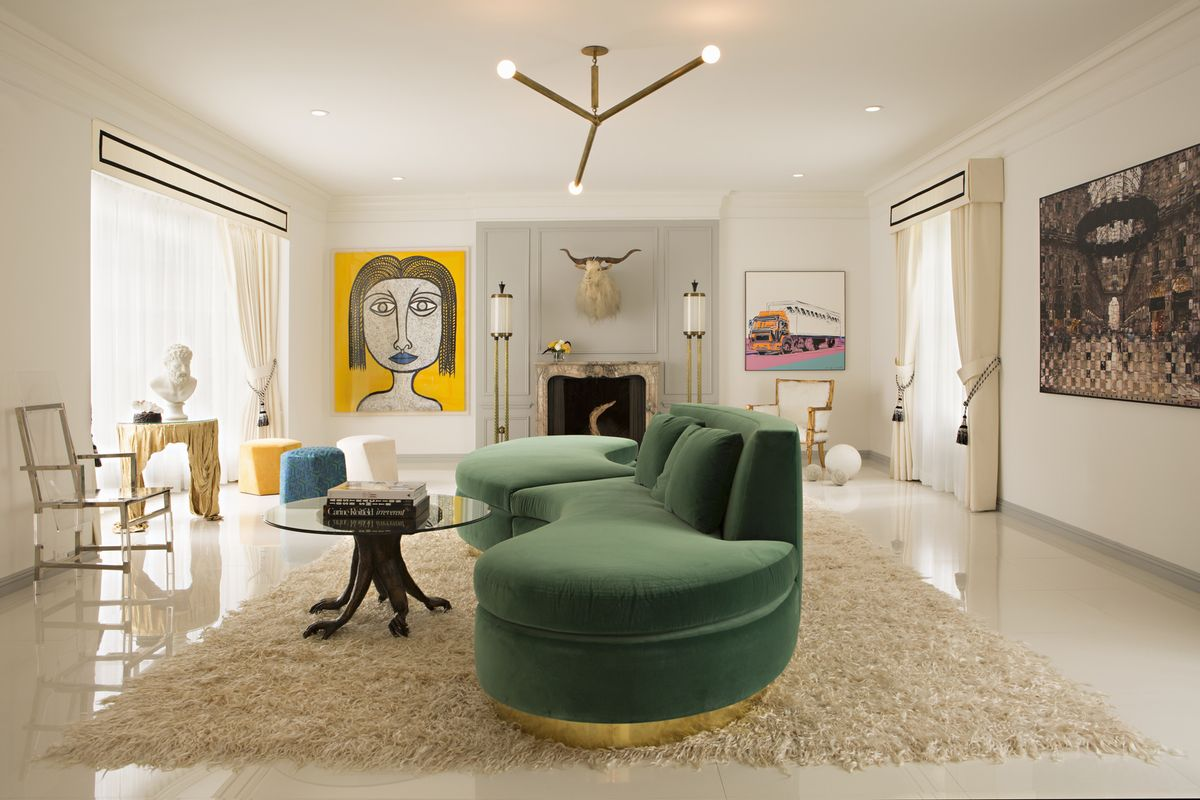 Contemporary Living Room in Los Angeles, CA by Woodson and ...