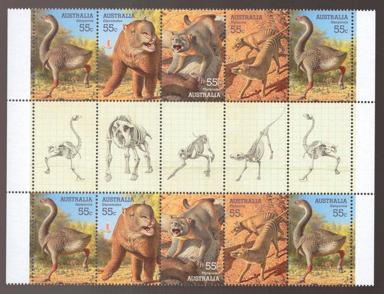 Dinosaur Stamps Tasmanian Tiger Pre Historic Australia Mega Etsy Dinosaur Stamps Extinct Animals Tasmanian Tiger