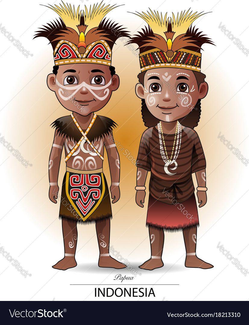 Suku Bugis Pakaian Adat Sulawesi Selatan Kartun