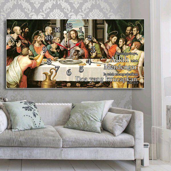 Beli JAM DINDING YESUS PERJAMUAN TERAKHIR 40X80cm Hiasan Shabby Chic Rumah  Cafe Kantor Butik size 40x80cm 0c882cb12b