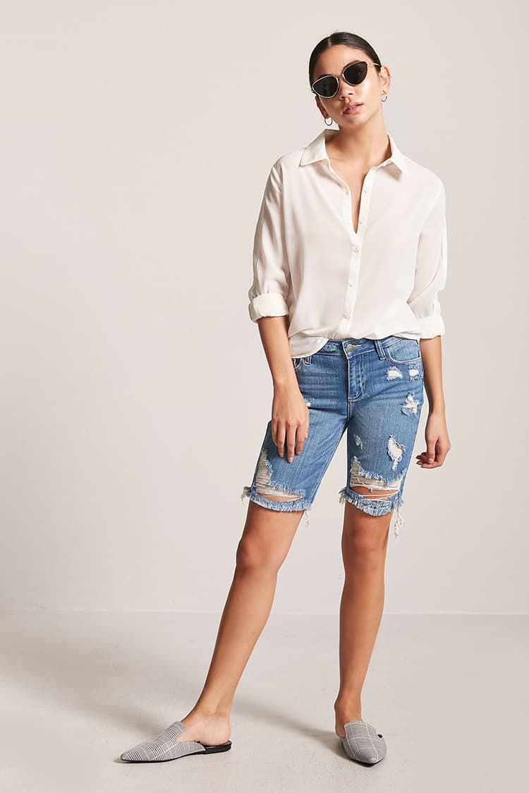 a1d5a69519 Product Name:Distressed Denim Bermuda Shorts, Category:bottom_jeans,  Price:27.9