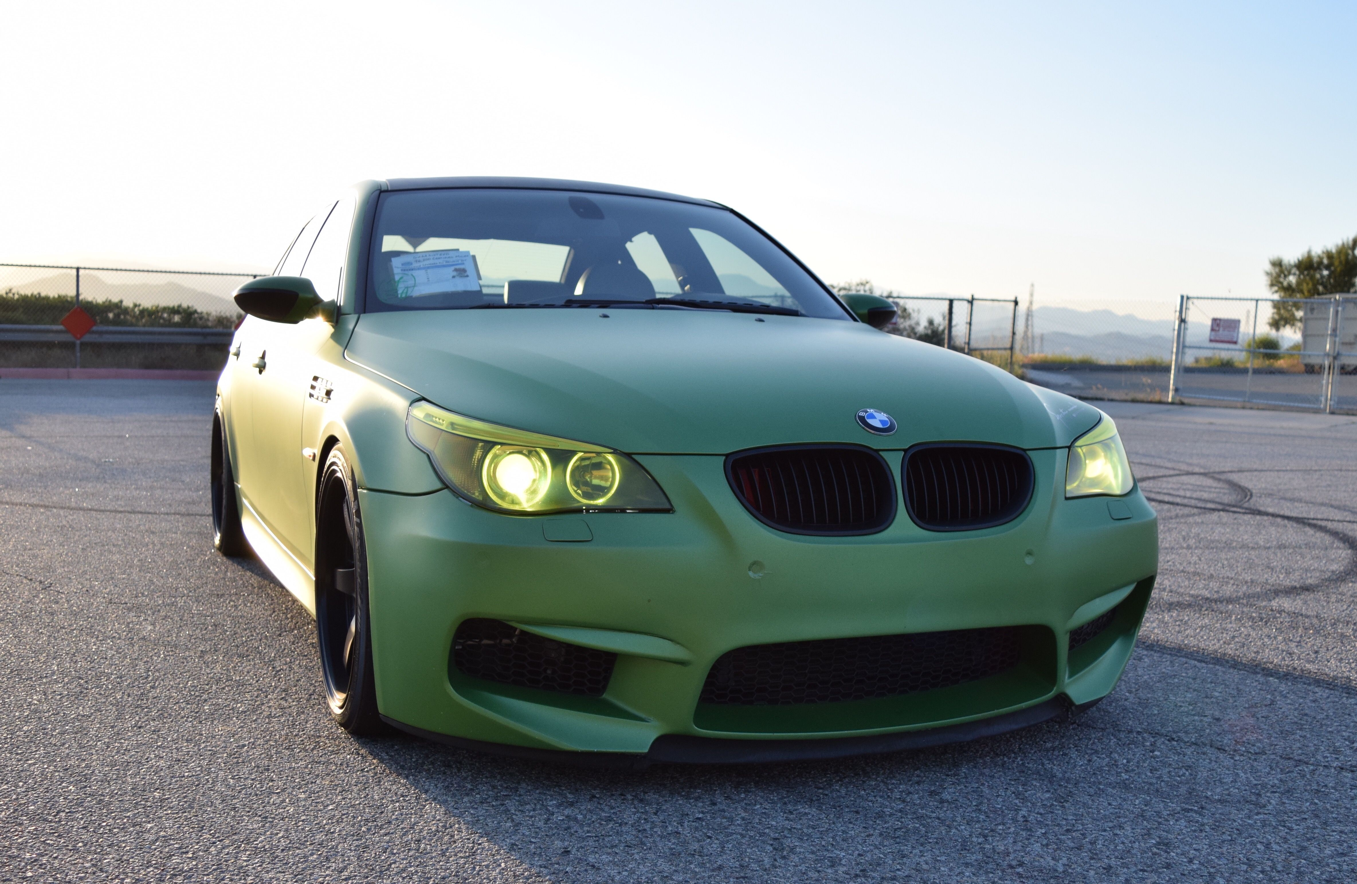 E60 Bmw M5 With 19 Inch Advan Wheels With Images Bmw Bmw M5