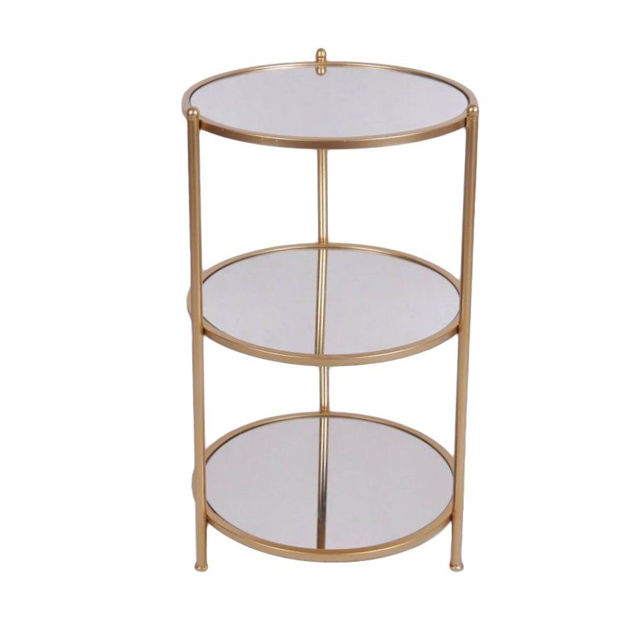 3 Tiered End Table With Images Metal Side Table Mirrored End Table Glass Accent Tables