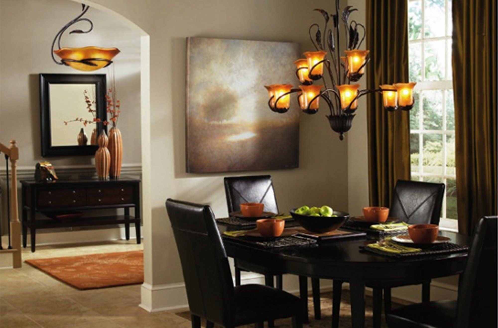 Dining Room Chandelier Lighting With Downlight