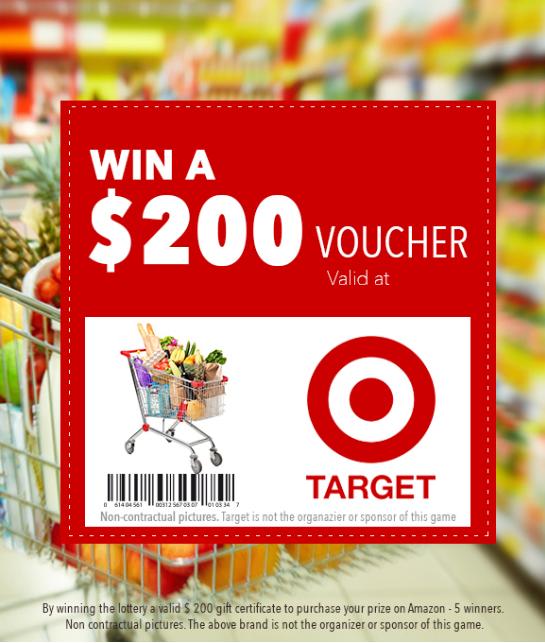 Target $500 voucher giveaways