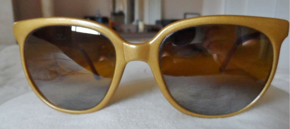 3e2204e8da21 Vintage Vuarnet Gold Cats Eye Sunglasses made in France -POUILLOUX  fashion   clothing