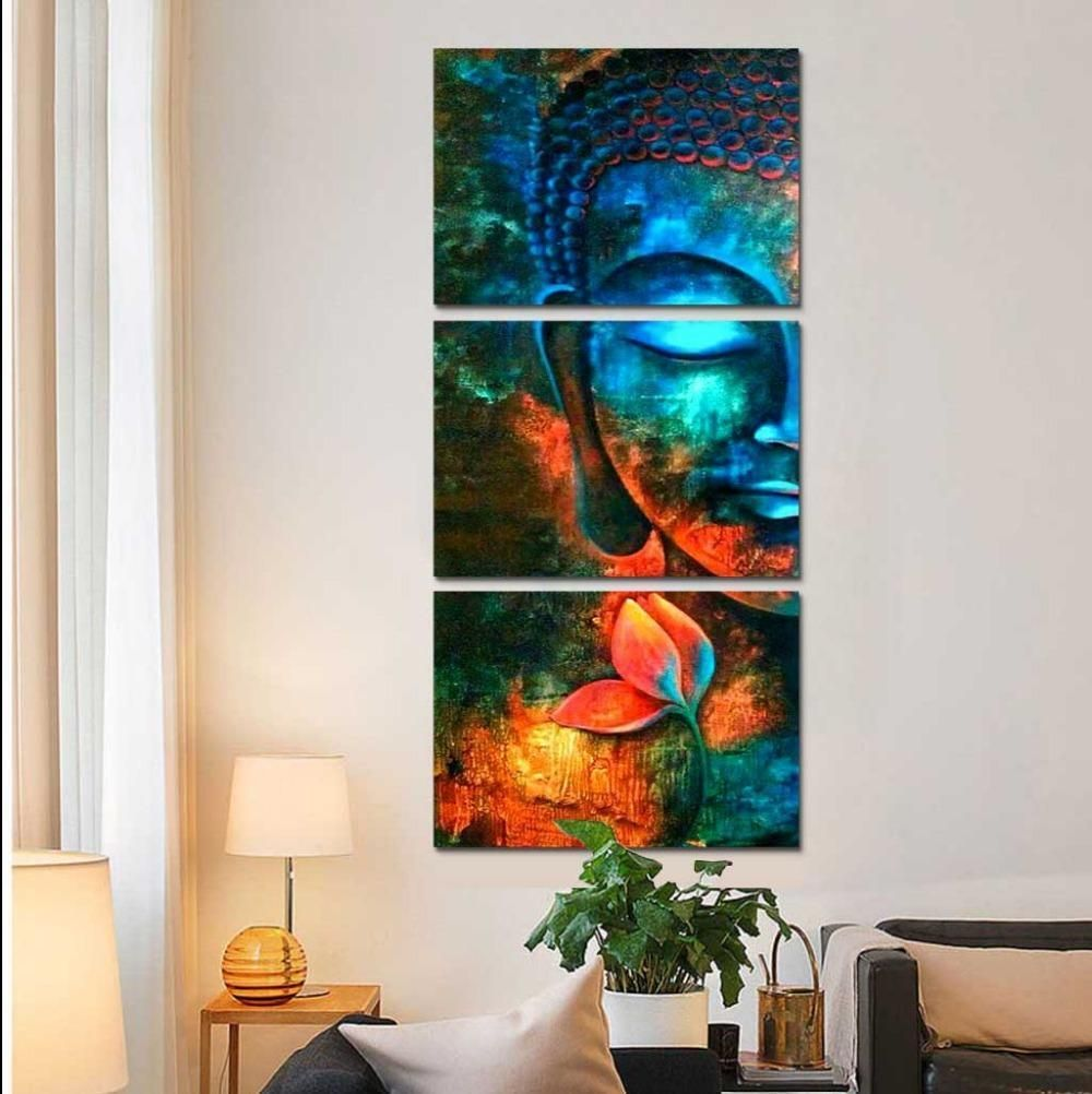 Canvas Art Set Buddha Wall
