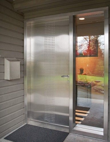 Awesome Contemporary Stainless Steel Front Door