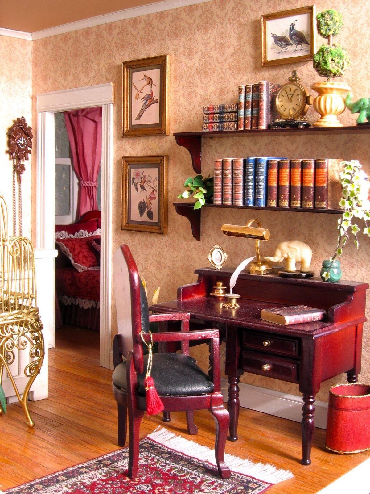 Dollhouse Study Dolls House Interiors Dollhouse Study Dollhouse Living Room