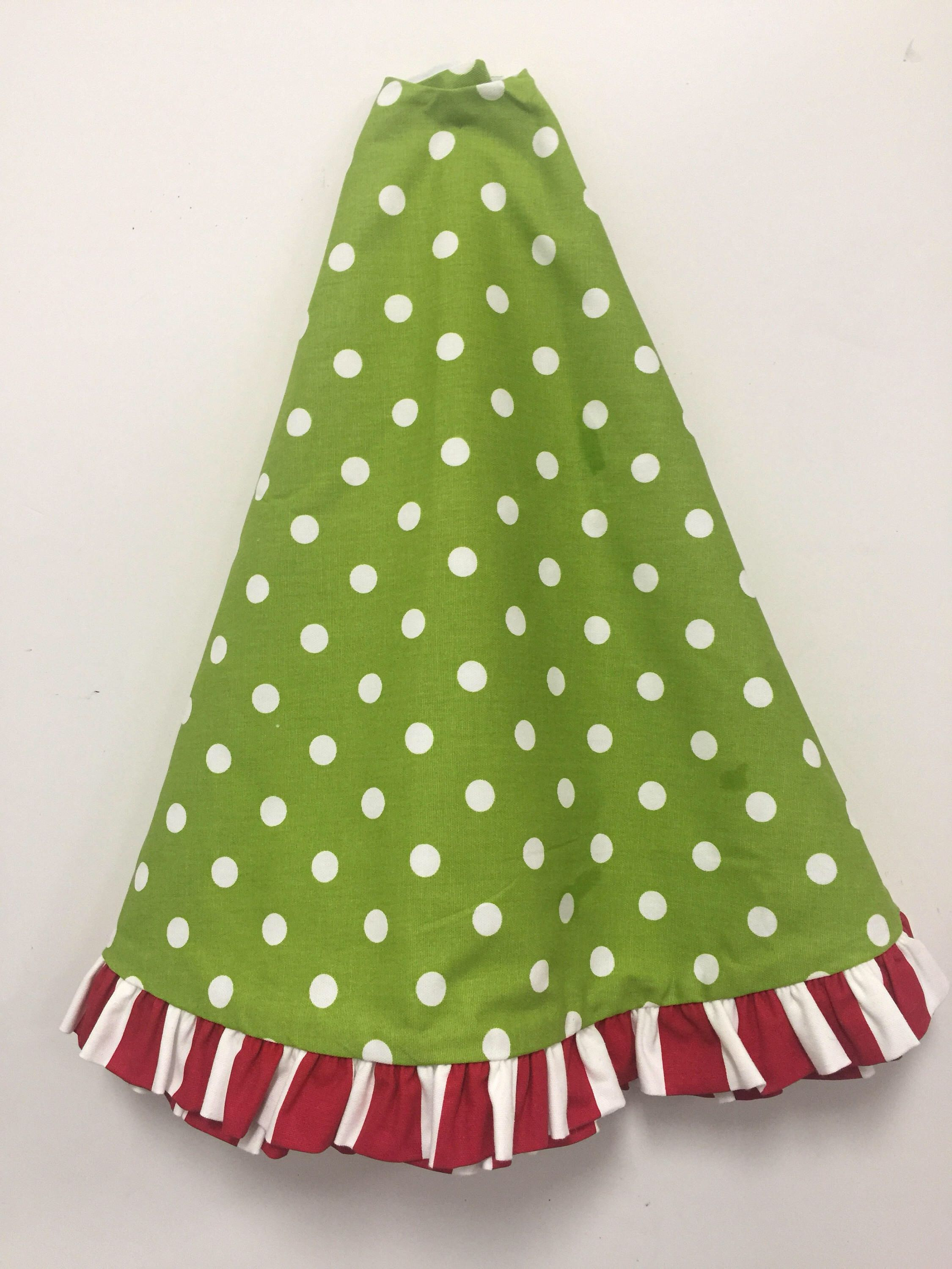 Tree Skirt Christmas Tree Skirt 52 Tree Skirt Tree Skirt Wruffle Burlap Christmas Quadafoil Dot
