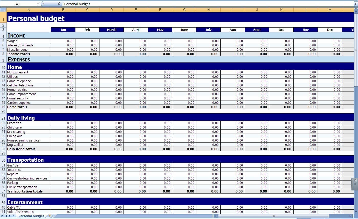 Monthly Expenses Spreadsheet Template Excel Budget Spreadsheet Excel Templates Excel Budget Template Excel Spreadsheets Templates
