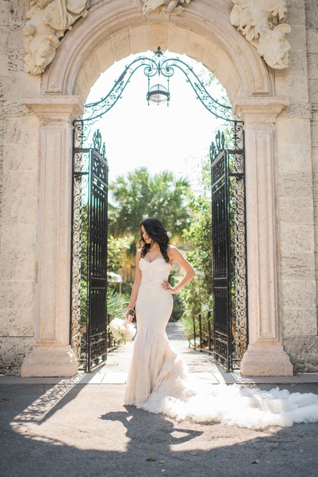 A real bride wearing an Inbal Dror wedding dress   Trenholm Photo   see more on: http://burnettsboards.com/2015/11/real-bride-wearing-inbal-dror/