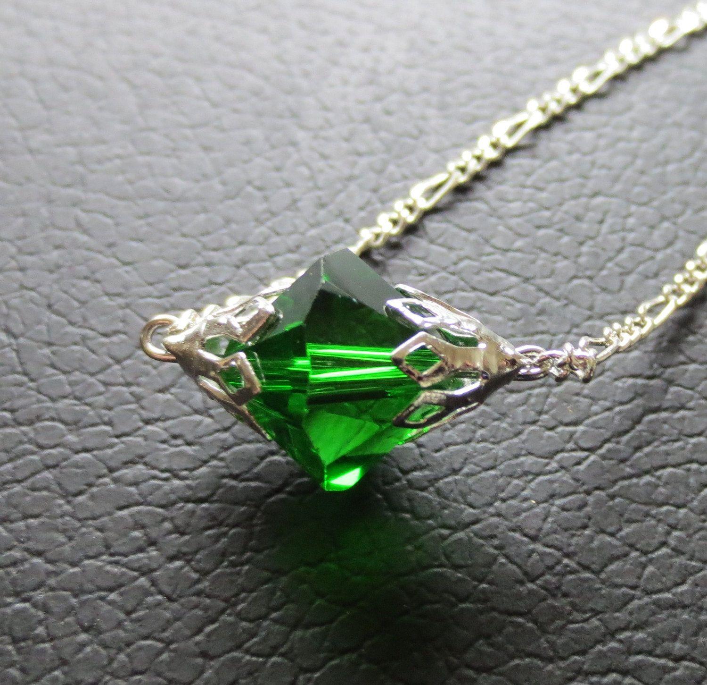 Smallville Lana Lang Inspired Green Kryptonite Necklace - Crystal 12mm. $28.00, via Etsy.
