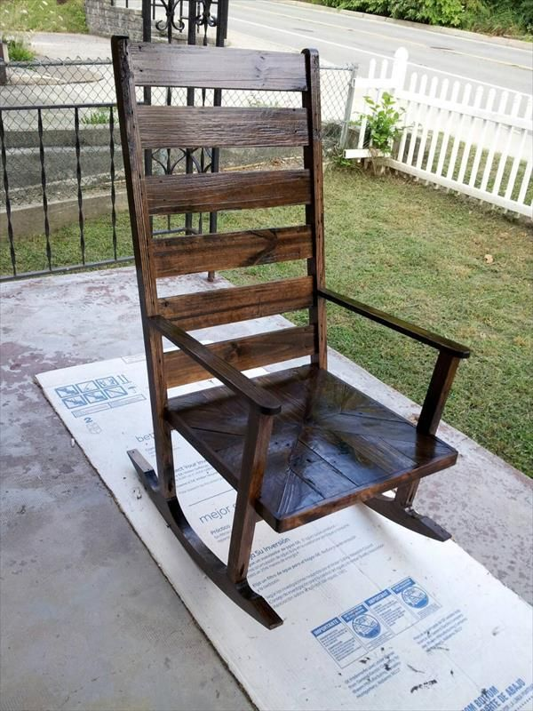 Charmant DIY Pallet Wood Rocking #Chair | 101 Pallets