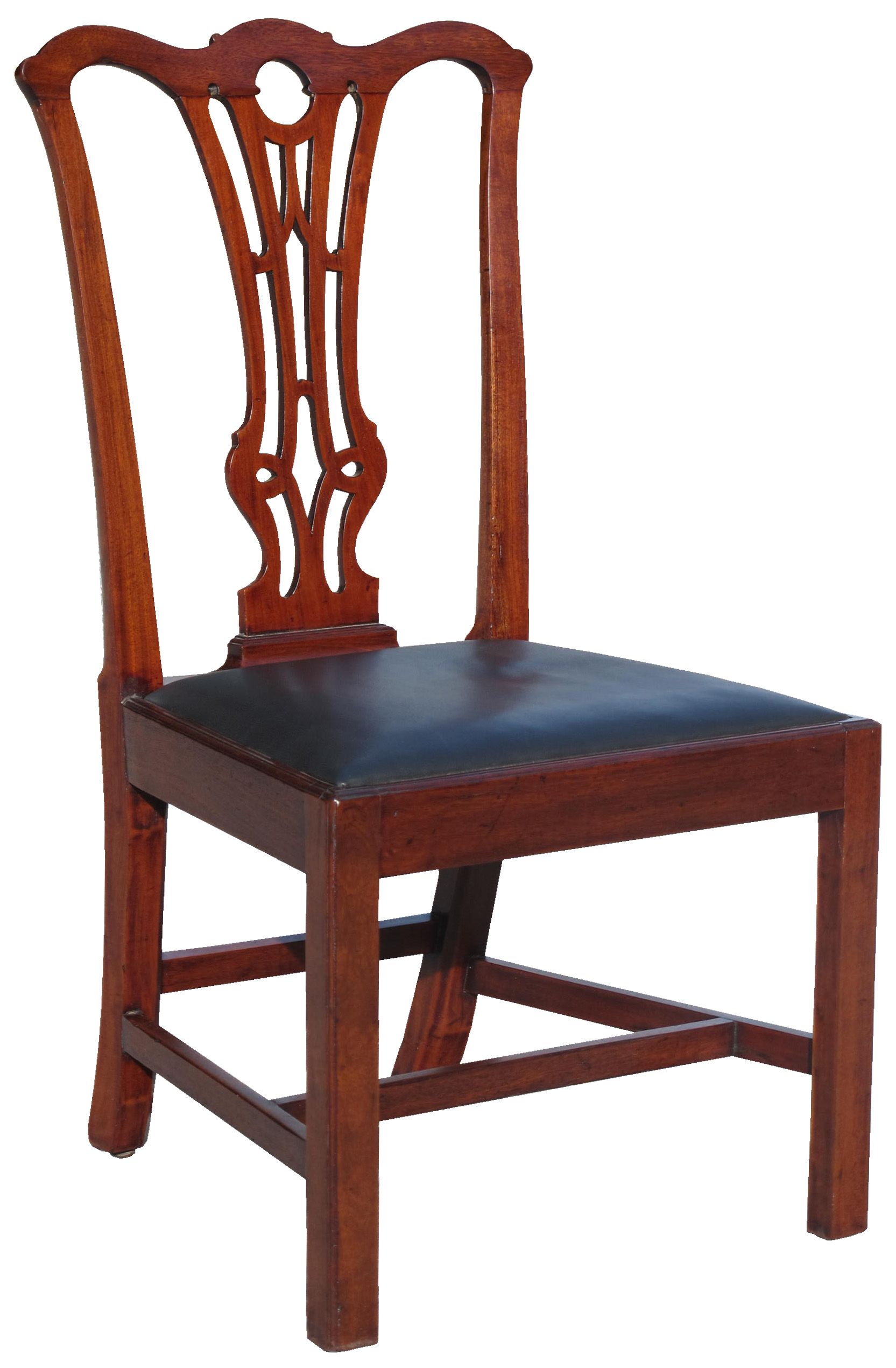 chippendale side chair. A Carved Mahogany Chippendale Side Chair (one Of Pair); Probably Baltimore Or