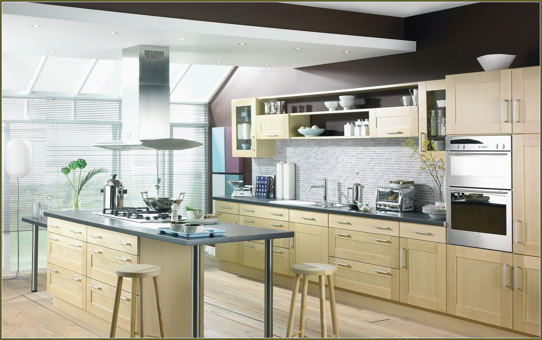 Modern Birch Kitchen Cabinets | Remodelación de cocina | Pinterest