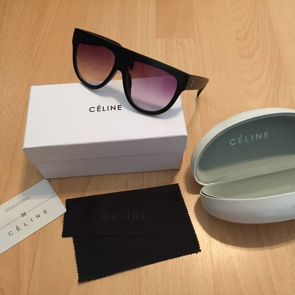c7255825538d Celine sunglasses matte black New with box cloth card and case Celine  Accessories Sunglasses