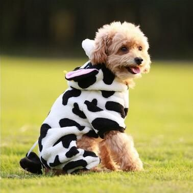 hot dogs fleece coat jumpsuit pet puppy cat cow hat soft