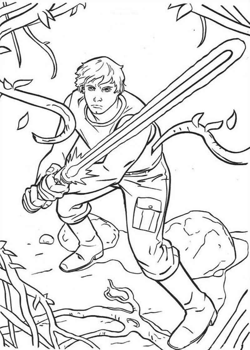 Luke Star Wars Coloring Pages. in 2020 Coloring books