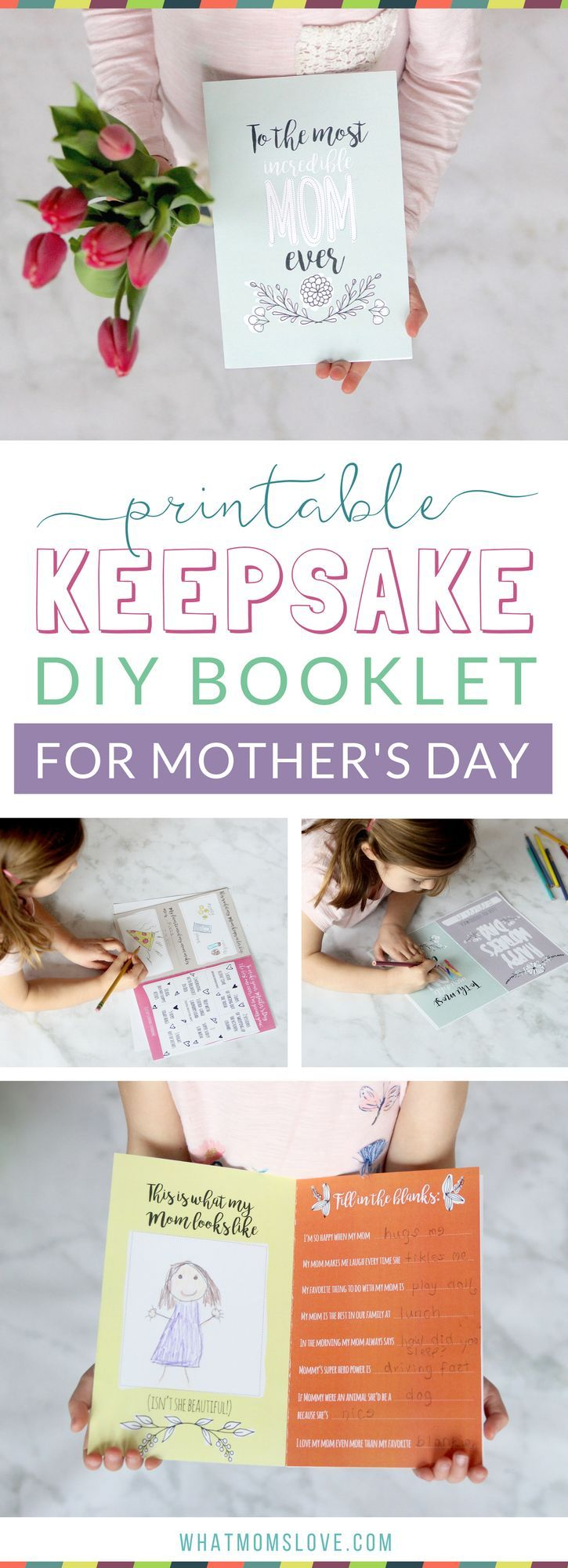 Printable Mother S Day Booklet Step Up Your Card Game With This Homemade Masterpiece From Your Kids Mother S Day Diy Mothers Day Book Grandma Book