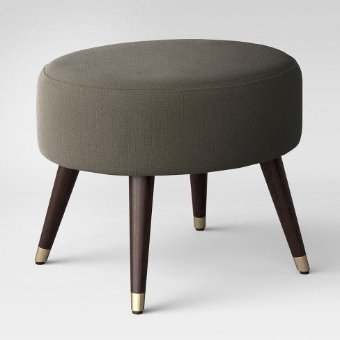 Magnificent Farwell Oval Ottoman With Gold Caps Slate Project 62 Gmtry Best Dining Table And Chair Ideas Images Gmtryco