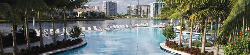 Our Zero Depth Entry Infinity Edge Pool In Hollywood Fl