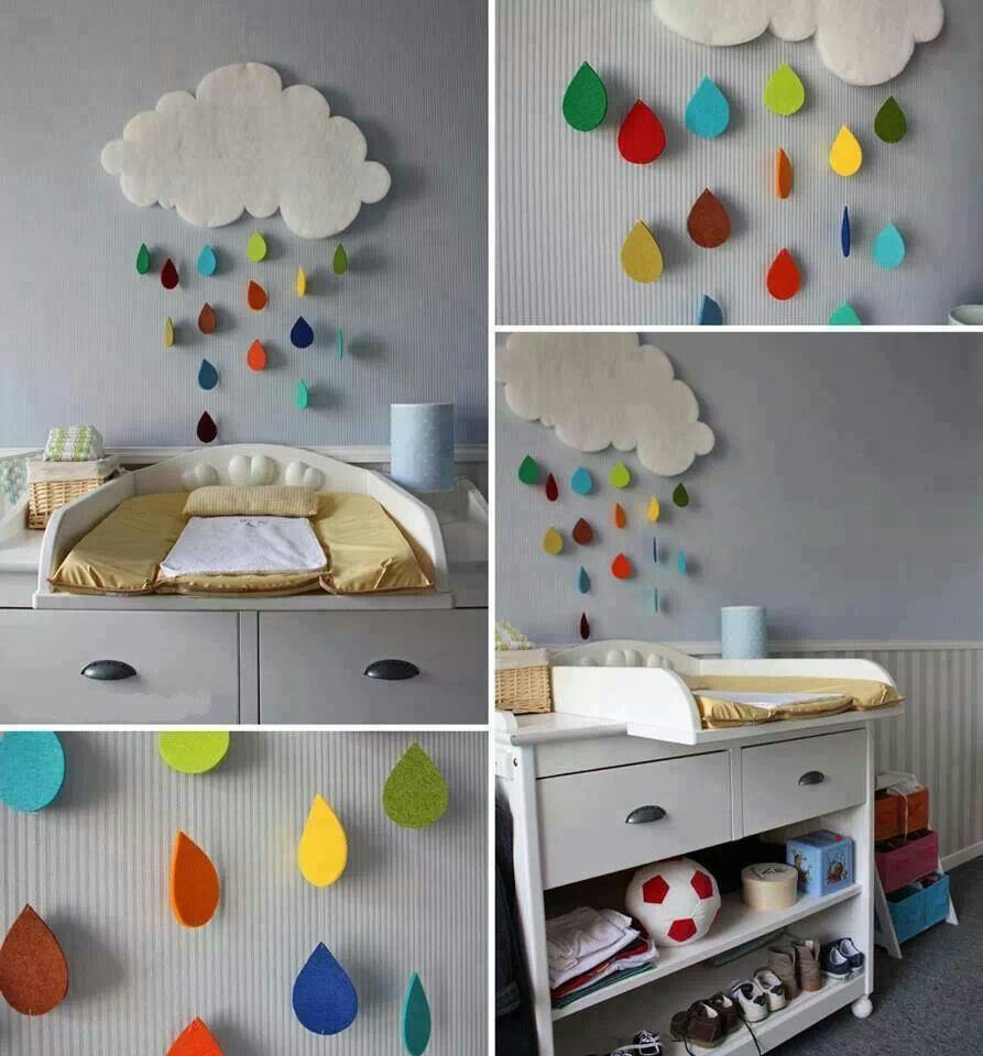 Beautiful Cool And Lovely DIY Girls Room Ideas With Diy Kids Room Decoration  Projects Cute Rainy Clouds Or Sun Umbrellas Diy Baby Room Decor Rainy Cloud  ...