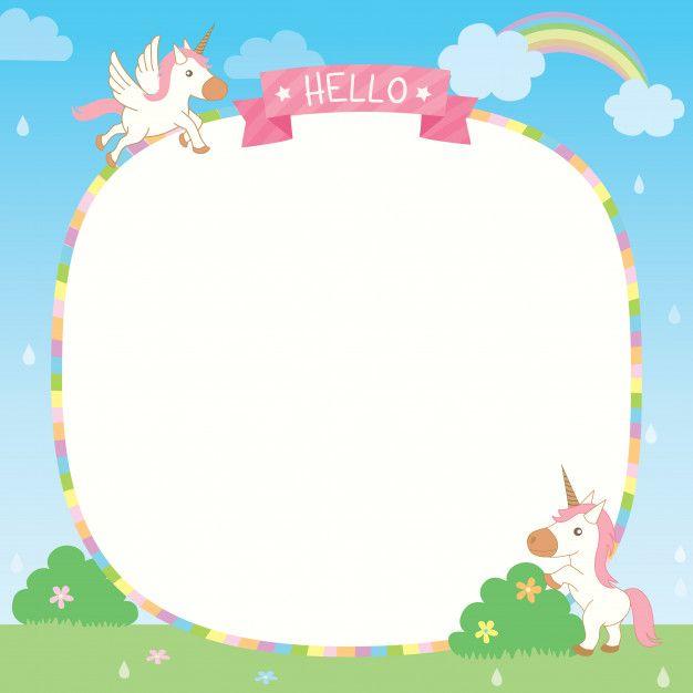 Rainbow unicorn template Premium Vector  Premium Vector