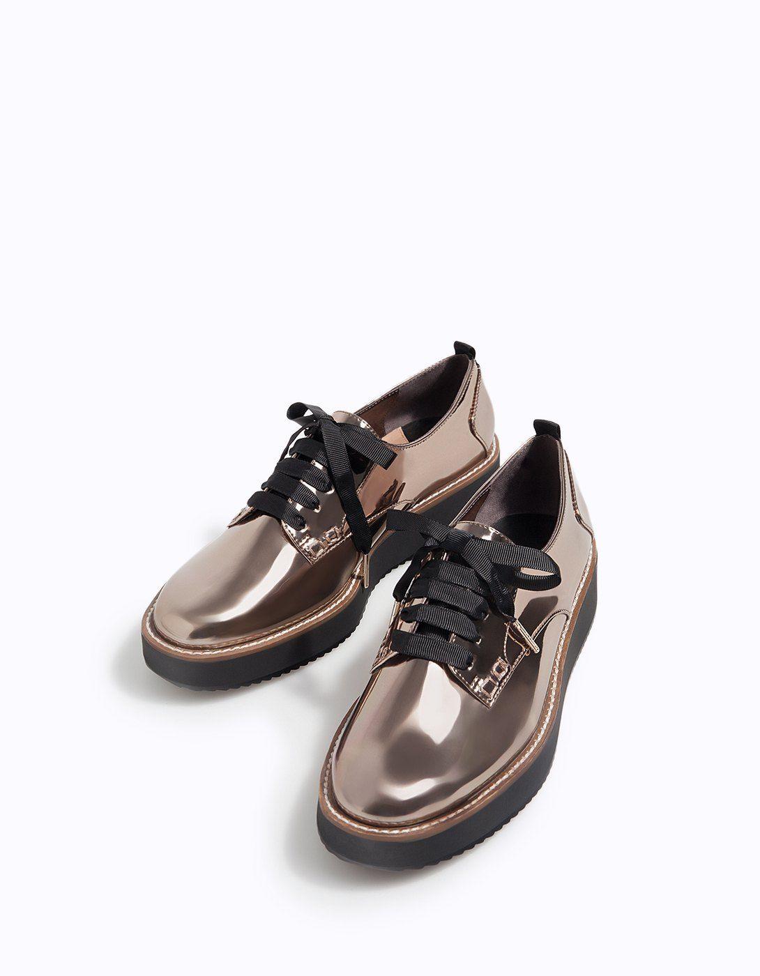 5126f8576fa01 Blucher metalizado piso eva - Zapatos planos