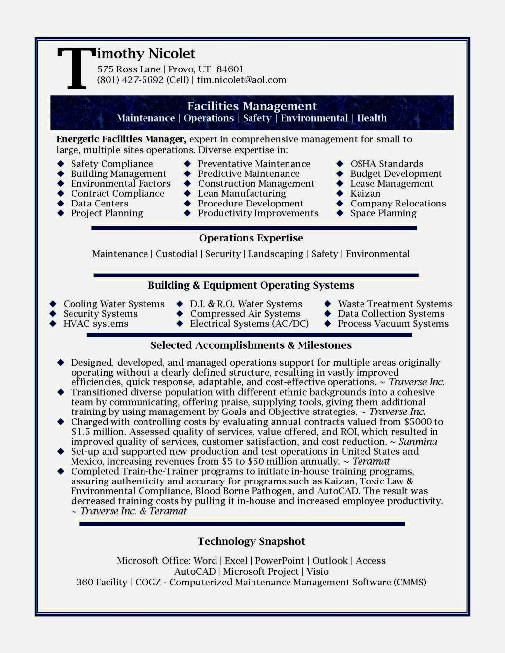 Project Management Resume Construction Project Manager Resume Examples Management Example